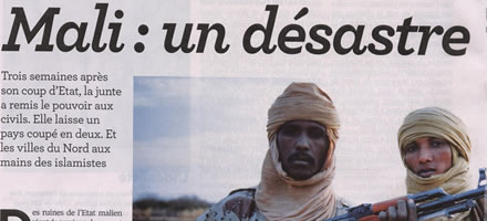 "Article of the French newspaper of general circulation ""Le Nouvel Observateur"" where Aziz and Sarkozy are described as apprentice sorcerers who have fallen by double AQIM and who no longer know what to do with the new situation in Mali ..."